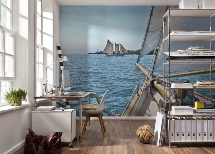 Holidays on the Sea wall mural
